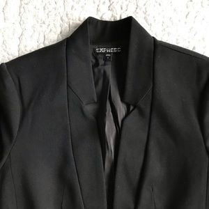EXPRESS, Black Fitted Blazer, Size 0